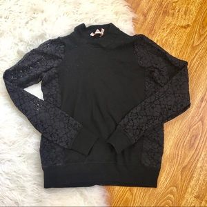 Tory Burch 100% Merino Sweater with Lace sleeves